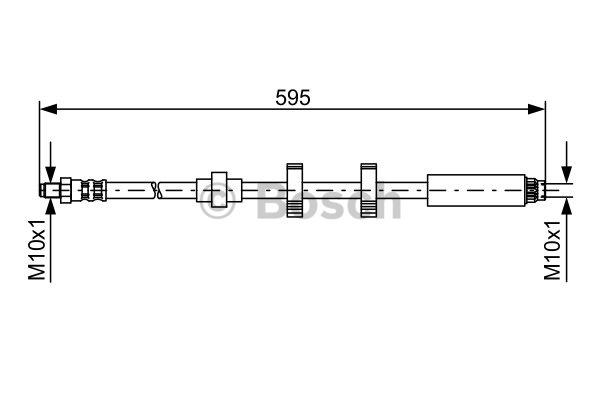 Flexible de frein - BOSCH - 1 987 476 979
