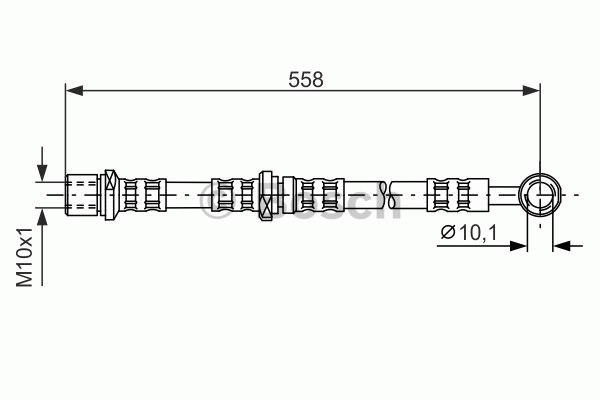 Flexible de frein - BOSCH - 1 987 476 982