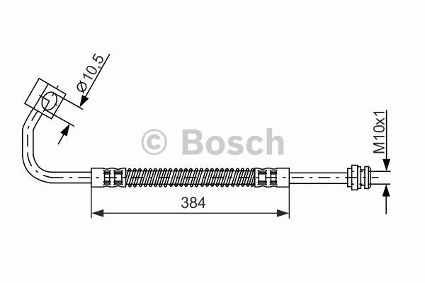 Flexible de frein - BOSCH - 1 987 476 983