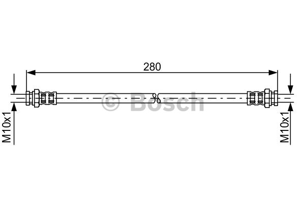 Flexible de frein - BOSCH - 1 987 476 985