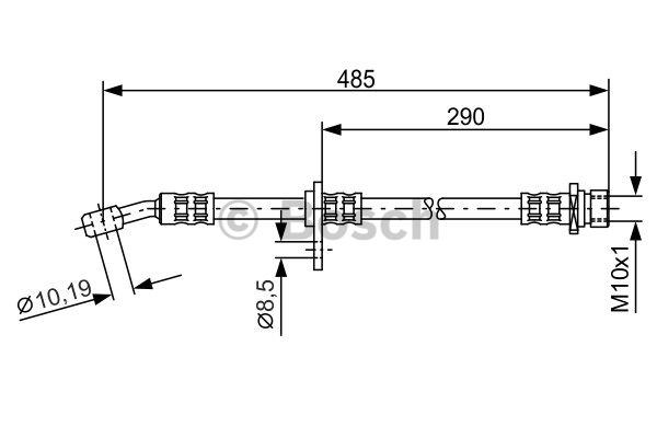 Flexible de frein - BOSCH - 1 987 476 989