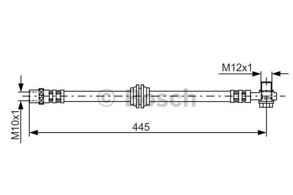 Flexible de frein - BOSCH - 1 987 476 990