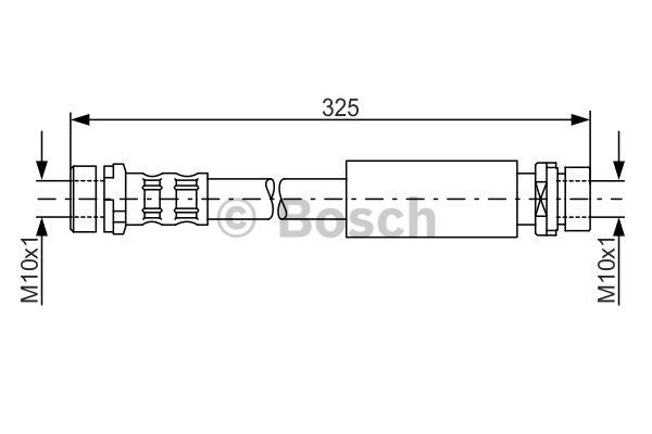 Flexible de frein - BOSCH - 1 987 476 994
