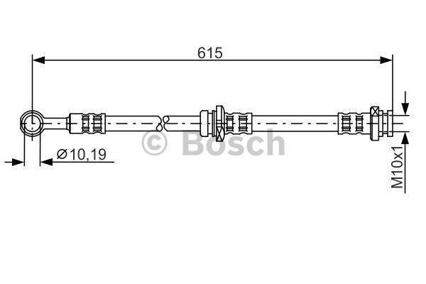 Flexible de frein - BOSCH - 1 987 476 998