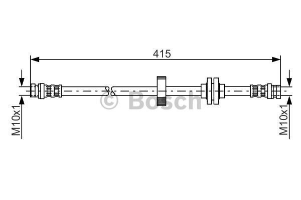 Flexible de frein - BOSCH - 1 987 476 999