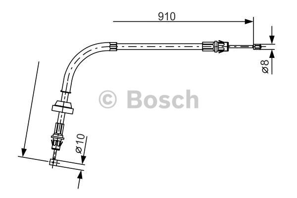 Tirette à câble, frein de stationnement - BOSCH - 1 987 477 190