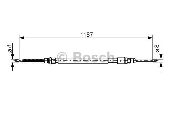Tirette à câble, frein de stationnement - BOSCH - 1 987 477 472