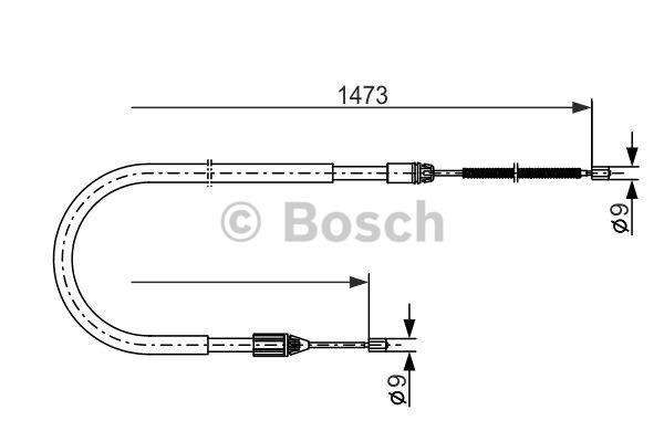 Tirette à câble, frein de stationnement - BOSCH - 1 987 477 636