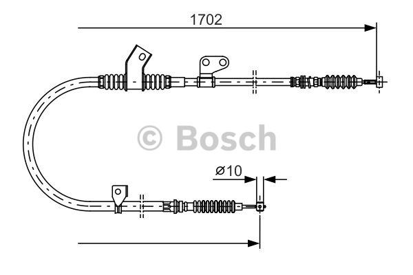 Tirette à câble, frein de stationnement - BOSCH - 1 987 477 747