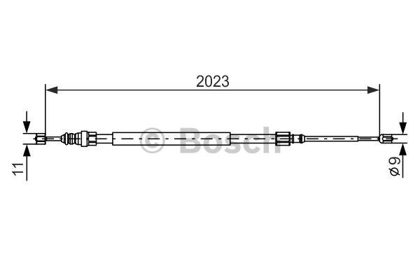 Tirette à câble, frein de stationnement - BOSCH - 1 987 477 786
