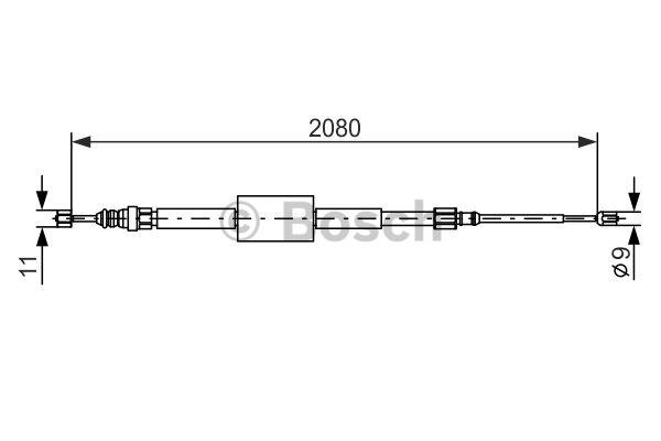Tirette à câble, frein de stationnement - BOSCH - 1 987 477 787