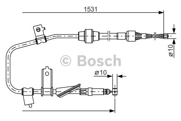 Tirette à câble, frein de stationnement - BOSCH - 1 987 477 788