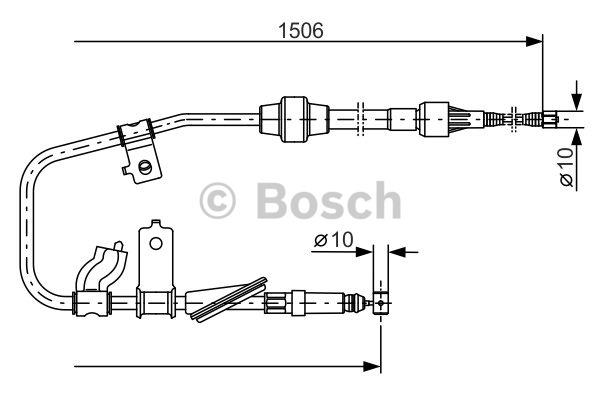 Tirette à câble, frein de stationnement - BOSCH - 1 987 477 789