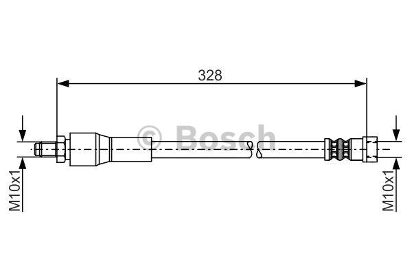 Flexible de frein - BOSCH - 1 987 481 001