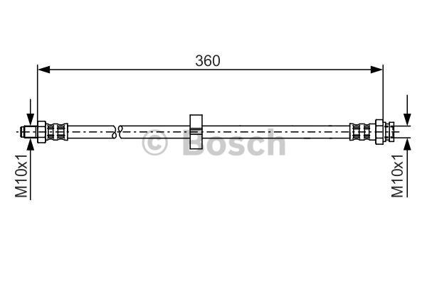 Flexible de frein - BOSCH - 1 987 481 002