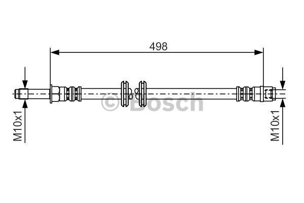Flexible de frein - BOSCH - 1 987 481 006