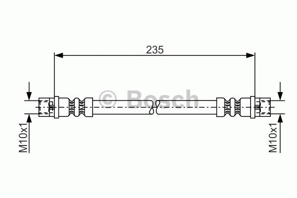 Flexible de frein - BOSCH - 1 987 481 008