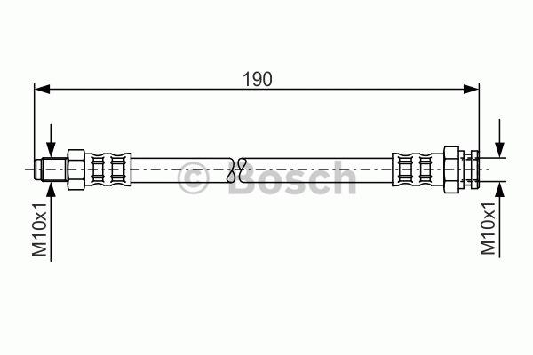Flexible de frein - BOSCH - 1 987 481 011