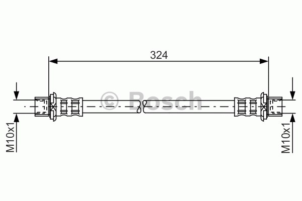 Flexible de frein - BOSCH - 1 987 481 016