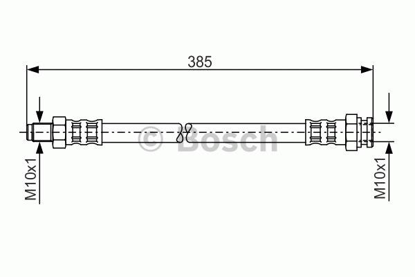 Flexible de frein - BOSCH - 1 987 481 018