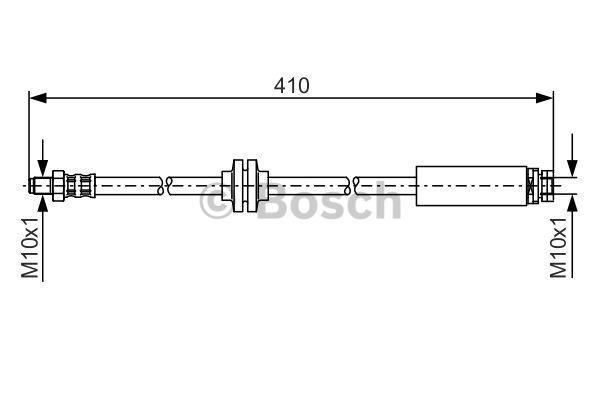 Flexible de frein - BOSCH - 1 987 481 022