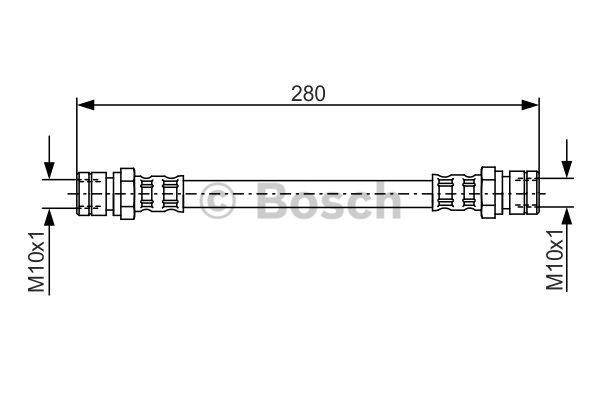 Flexible de frein - BOSCH - 1 987 481 030