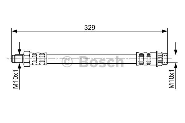 Flexible de frein - BOSCH - 1 987 481 032
