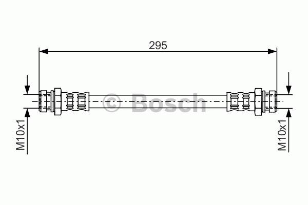 Flexible de frein - BOSCH - 1 987 481 039