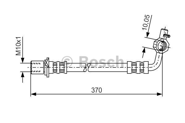 Flexible de frein - BOSCH - 1 987 481 042