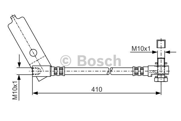 Flexible de frein - BOSCH - 1 987 481 046