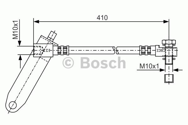 Flexible de frein - BOSCH - 1 987 481 047