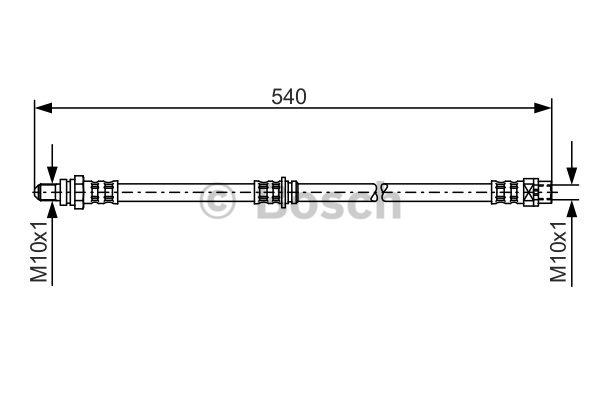 Flexible de frein - BOSCH - 1 987 481 053