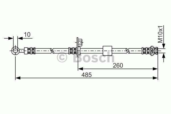 Flexible de frein - BOSCH - 1 987 481 054