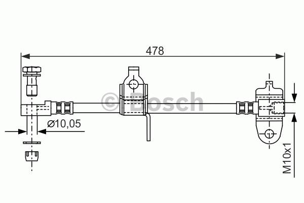 Flexible de frein - BOSCH - 1 987 481 070
