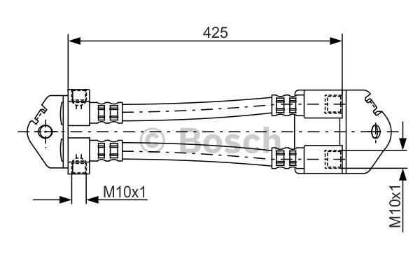 Flexible de frein - BOSCH - 1 987 481 073