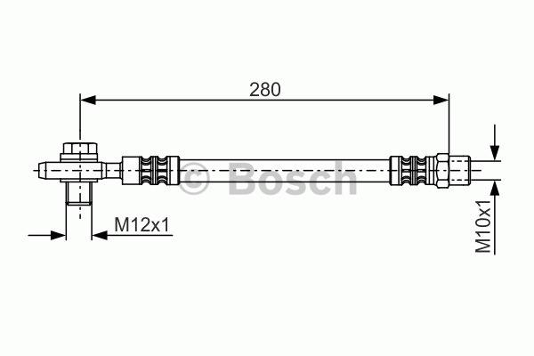 Flexible de frein - BOSCH - 1 987 481 082