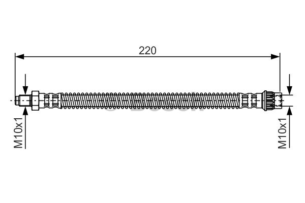 Flexible de frein - BOSCH - 1 987 481 090