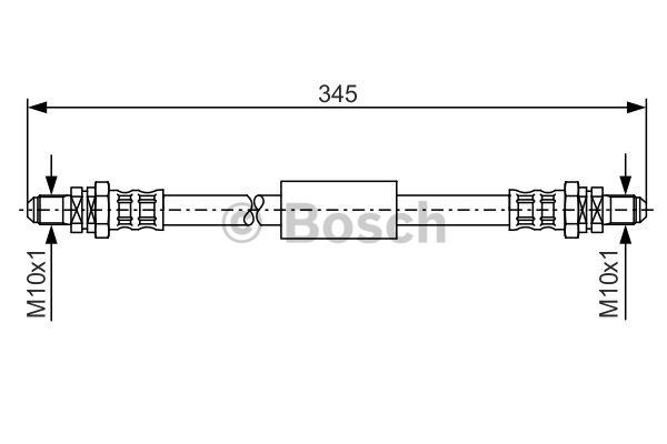 Flexible de frein - BOSCH - 1 987 481 097