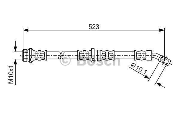 Flexible de frein - BOSCH - 1 987 481 100