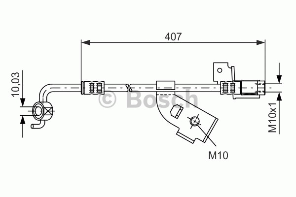 Flexible de frein - BOSCH - 1 987 481 113