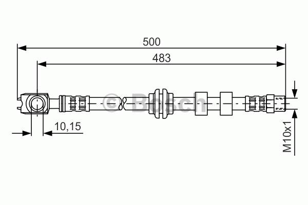 Flexible de frein - BOSCH - 1 987 481 115