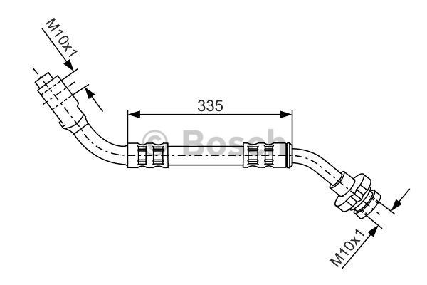 Flexible de frein - BOSCH - 1 987 481 122