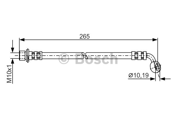 Flexible de frein - BOSCH - 1 987 481 127