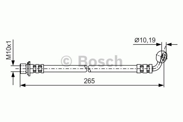 Flexible de frein - BOSCH - 1 987 481 128