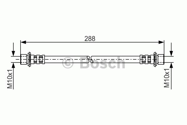 Flexible de frein - BOSCH - 1 987 481 129