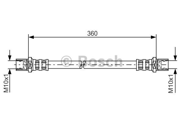Flexible de frein - BOSCH - 1 987 481 138