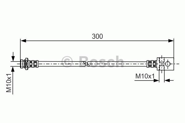Flexible de frein - BOSCH - 1 987 481 146