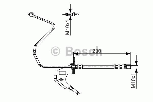 Flexible de frein - BOSCH - 1 987 481 162