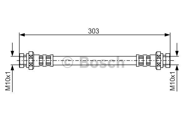 Flexible de frein - BOSCH - 1 987 481 164