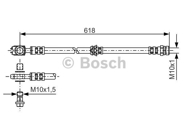 Flexible de frein - BOSCH - 1 987 481 173